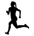 back girl athlete runner running vector image vector image