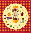bbq icon set vector image vector image