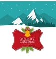 Bell and label of Christmas season design vector image