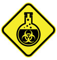 bio hazard warning sign vector image