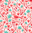 birds and flowers pattern vector image