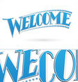 Blue Welcome Lettering Design vector image vector image