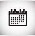 business calendar on white background vector image