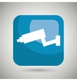 camera square button isolated icon design vector image