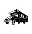 Camper van motor home retro vector | Price: 1 Credit (USD $1)
