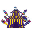 carnival tent circus vector image