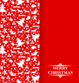 christmas card shadow vector image