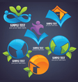 collection eco friendly symbols and icon vector image