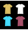 Colorful templates T shirts vector image vector image