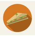 Design of sandwich vector image vector image