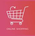 e-commerce concept minimal design line vector image vector image