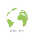 earth day sketch globe white background vector image vector image