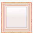 empty vintage frames on white background vector image vector image