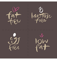 Fat Egg Lactose Food Labels vector image vector image
