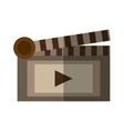 film clapper chalkboard scene icon shadow vector image
