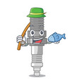 fishing spark plug isolated with the mascot vector image