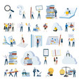 flat design people concept icons isolated on white vector image vector image