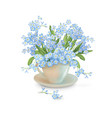 flowers in the cup vector image vector image