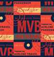franceville airport tag seamless pattern vector image vector image