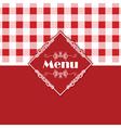 gingham pattern menu design 1303 vector image vector image