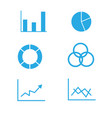 graphs and diagram icons on white background vector image vector image