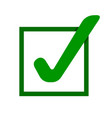green check mark icon tick symbol vector image vector image