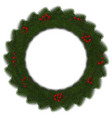 green christmas wreath with red berry isola vector image