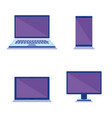 group of devices electronics vector image
