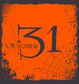 halloween 31 october vintage card logo vector image vector image