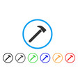 hammer rounded icon vector image vector image