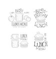 hand drawn logos for menu of cafe or vector image vector image