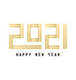 happy new year 2021 celebration greeting card vector image