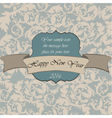 Happy New Year vintage card vector image vector image