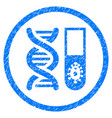 hitech microbiology rounded grainy icon vector image vector image