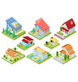 house isometric housing architecture or vector image vector image