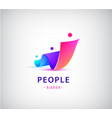 human people group logo family business vector image vector image