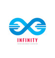 infinity - logo template concept vector image