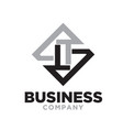 l t business logo designs flat vector image