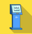 medical terminal terminals single icon in flat vector image vector image