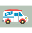 Milk Car vector image vector image