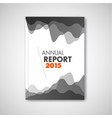 modern abstract brochure report design template vector image