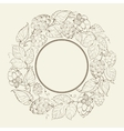 Monochrome circle of fruit hops vector image vector image