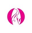 Nail manicure salon sign vector image
