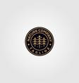 nature tree company pine logo emblem design vector image vector image