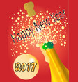 new years bottle 2017 vector image vector image