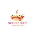 noodle logo vector image vector image