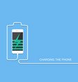 phone charging with energy bank smarthone with li vector image vector image