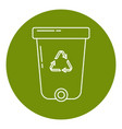 recycle bin icon in thin line style vector image vector image