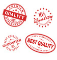 Retro vintage red stamps vector image vector image