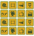 Seamless background with cinema symbols vector image